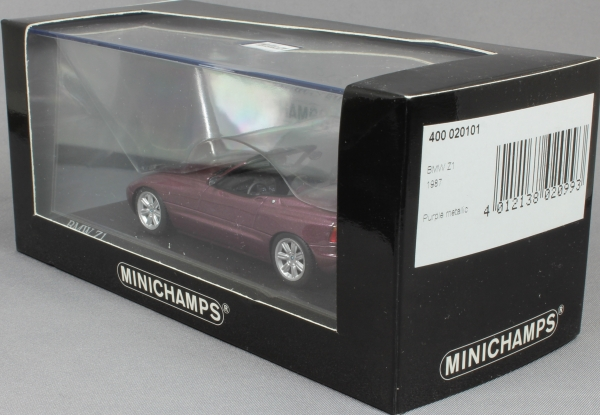 minichamps bmw z1 in magic violet 1991 400020101 1 43 new ltd ed 2736. Black Bedroom Furniture Sets. Home Design Ideas