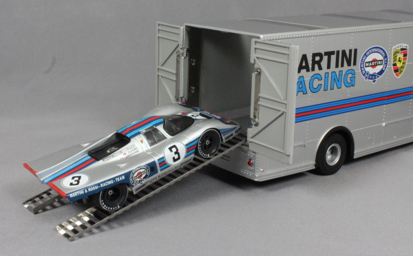 Mercedes O 317 Porsche Martini Racing Car Transporter