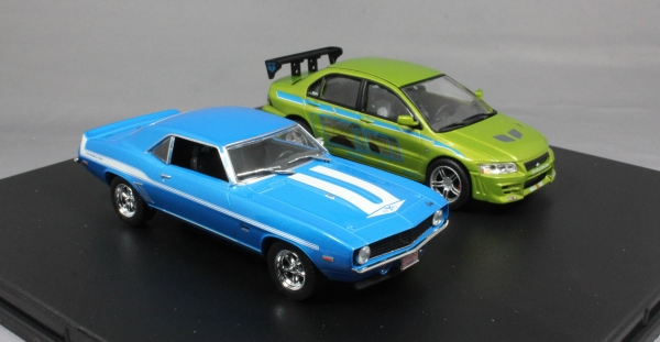 2 Fast 2 Furious Lancer & Camaro 2 Car Set