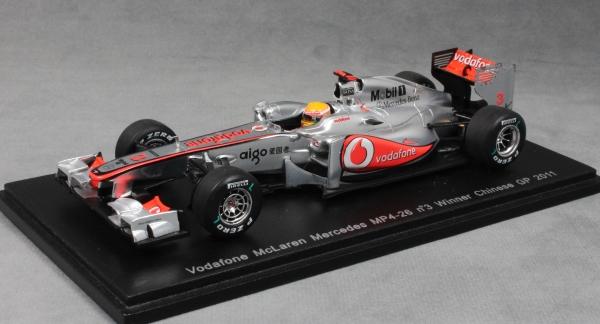 1:43 Minichamps McLaren Mercedes MP4//26 Winner GP China Hamilton 2011