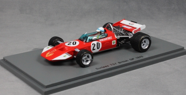 Surtees ts7 ford Gijs van Lennep fórmula 1 Dutch gp 1971 1:43 Spark 5402 nuevo