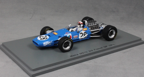 SPARK MATRA MS10 3rd posizionare FRENCH GRAND PRIX 1968 JACKIE STEWART S7181 1//43 NUOVO