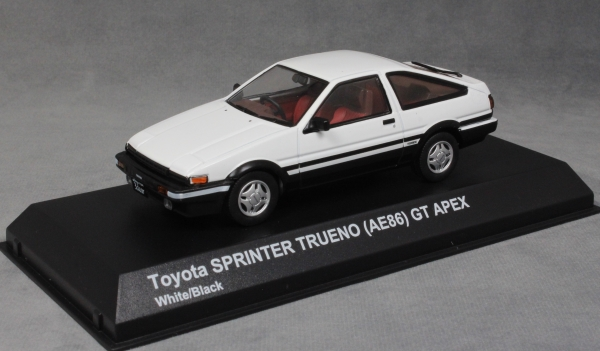 Brand New Kyosho Cat No 03891W Toyota Sprinter Trueno (AE86) GT Apex In  White. Excellent Highly Detailed 1/43 Scale Model Supplied In Perspex Case  And Outer ...