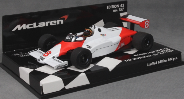 McLaren Ford MP4//1C Bellof Formel 1 Test Silverstone 1983-1:43 Minichamps