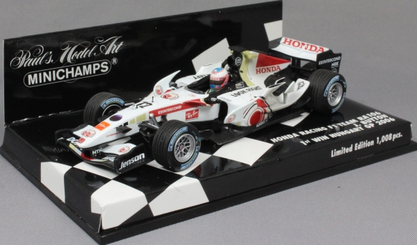 Minichamps Honda Racing F1 RA106 2006 Jenson Button First Win 400060412 1//43 NEW