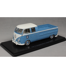 Volkswagen T1 Double Cab LWB Pickup in Blue and White