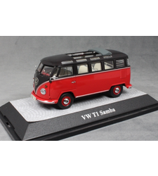 Volkswagen T1 Samba Bus in Red and Black