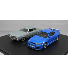 The Fast and the Furious Skyline and Chevelle 2 Car Set